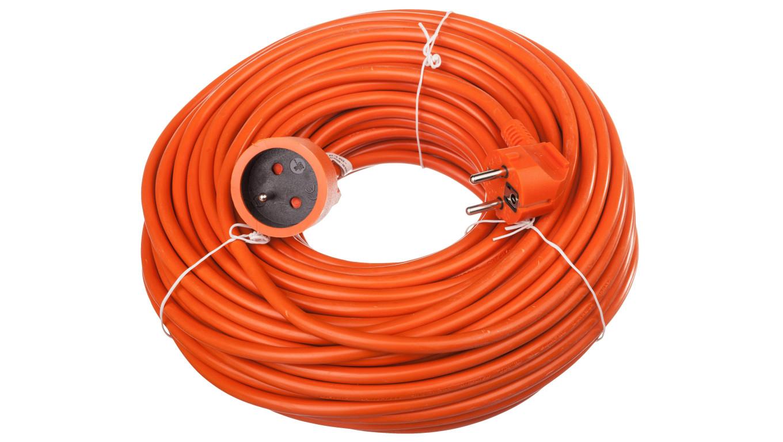 Przedłużacz ogrodowy 1-gniazdo z/u 40m /H05VV-F 3x1,5/ pomarańczowy P01140