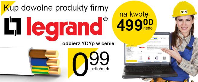 Legrand obniża cenę YDYp do 99 groszy