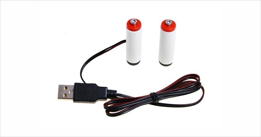 Eliminator USB 2 baterii AA R6