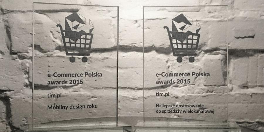 """Nagrody w kategoriach """"Mobilny Design Roku"""" oraz """"Najlepsze Dostosowanie do Sprzedaży Wielokanałowej w konkursie e-Commerce Polska awards 2015"""