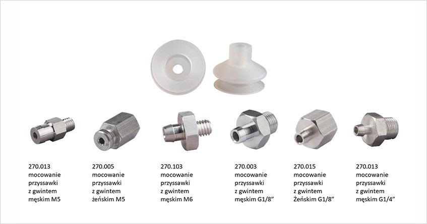 FIPA 23.022.028.2 - Przyssawka silikonowa 1.5 mieszka, ø22mm.