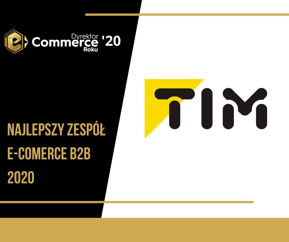 """Nagroda dla """"Najlepszego Zespołu e-commerce B2B"""" w konkursie Dyrektor e-Commerce Roku 2020"""